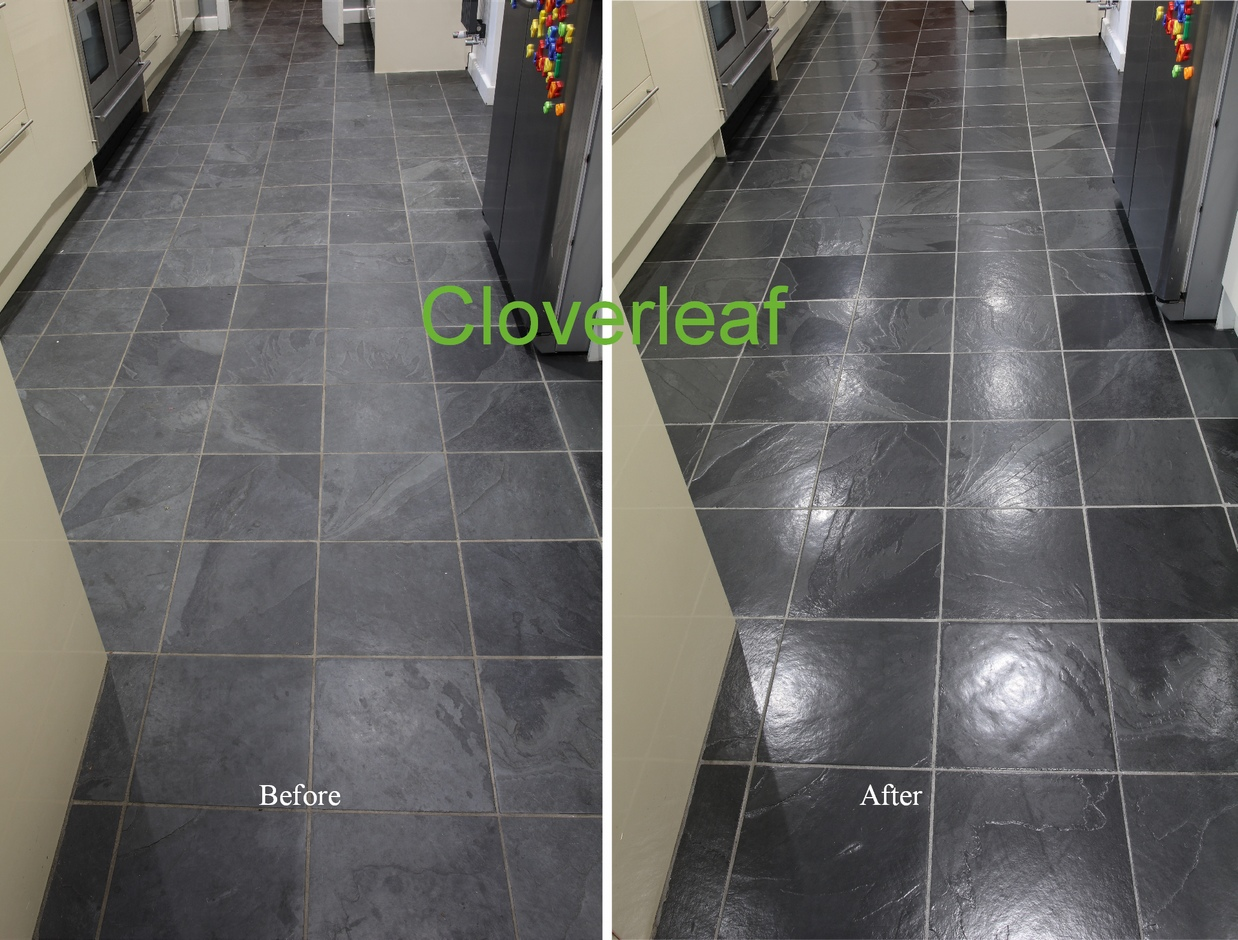 how to clean slate floors easily