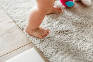 oil products attracts dirt on carpet