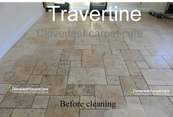 Travertine floor tile cleaning Cheshire