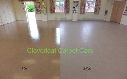 commercial vinyl floor cleaning