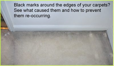 how to remove black marks on edge of carpet
