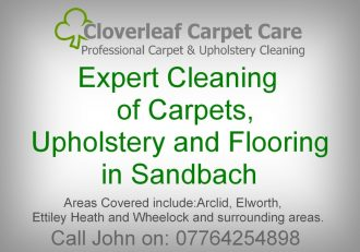 Carpet Cleaning Sandbach