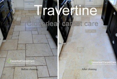 removing dirt from limestone floor